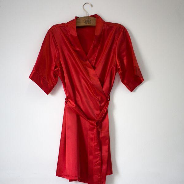Robe de Cetim Vermelho