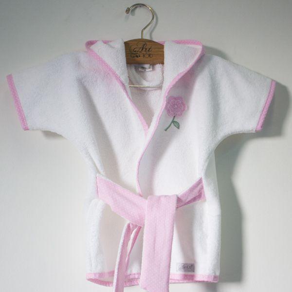 Roupão Baby - Coleção Zip Rosa - Art Bord