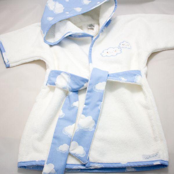 Roupão Baby - Coleção Tugs Azul - Art Bord