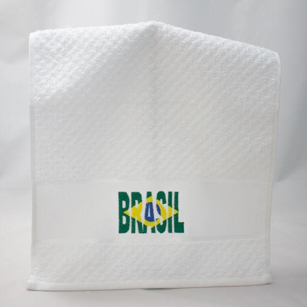 Toalha Lavabo Brasil Bandeira