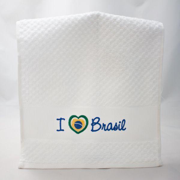 Toalha Lavabo Brasil Eu Amo