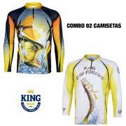 COMBO CAMISETA KING SUBLIMADA 01 - P