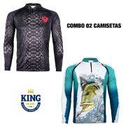 COMBO CAMISETA KING SUBLIMADA 03 - GG