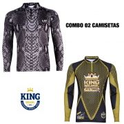 COMBO CAMISETA KING SUBLIMADA 10  - GG