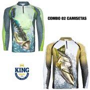 COMBO CAMISETA KING SUBLIMADA 11 - M