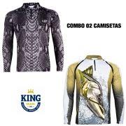 COMBO CAMISETA KING SUBLIMADA 12 - G
