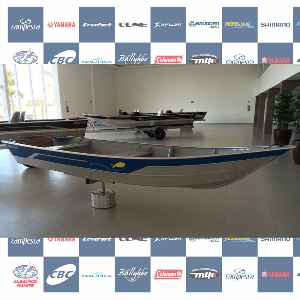 Barco Alumínio Borda Baixa   Pety 420 S
