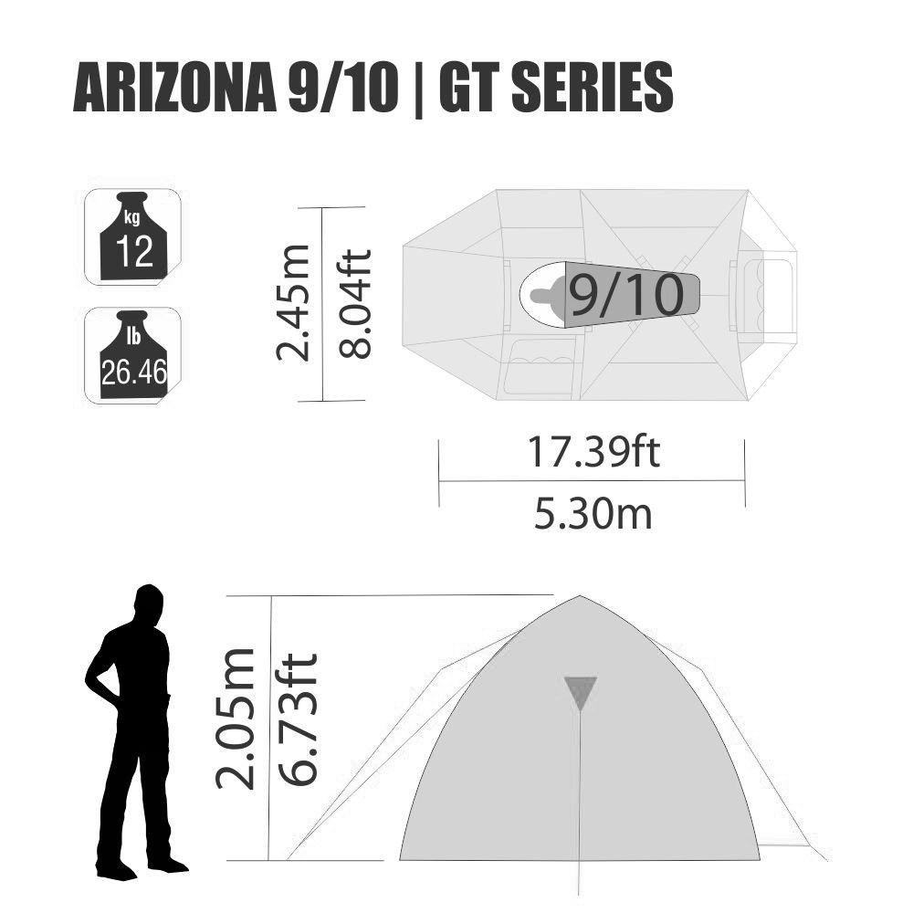 Barraca Arizona GT 9/10 Pessoas