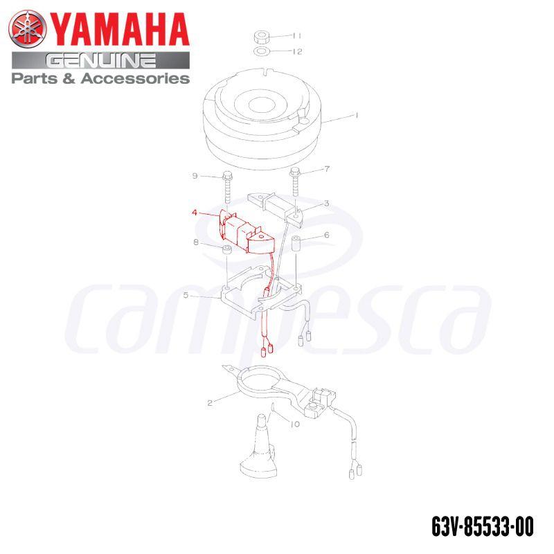 Bobina de Luz 9.9/15HP - Yamaha - (63V-85533-00)
