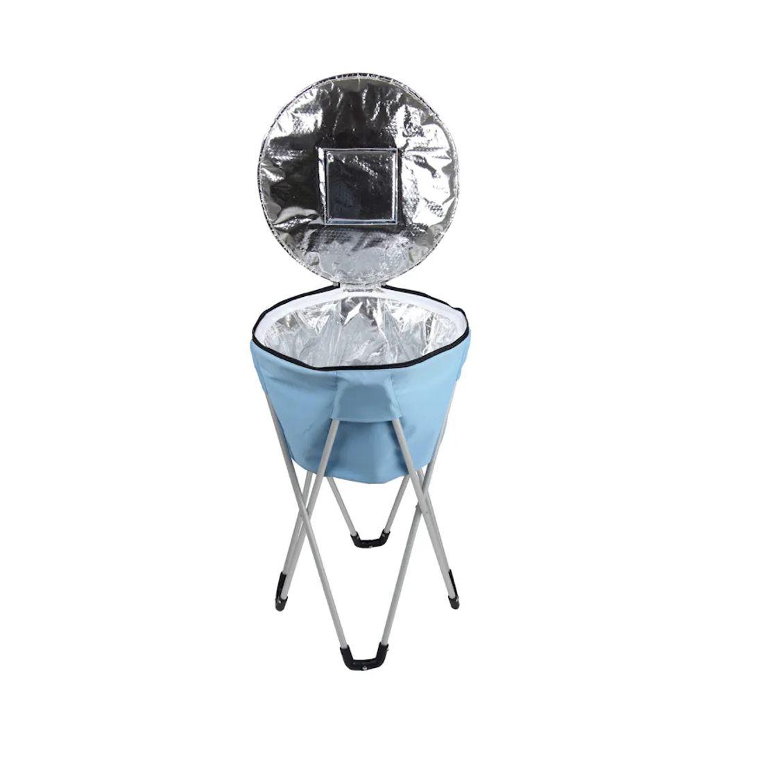 Bolsa Térmica Com Pedestal Ice Cooler Mor Azul - 32 Litros
