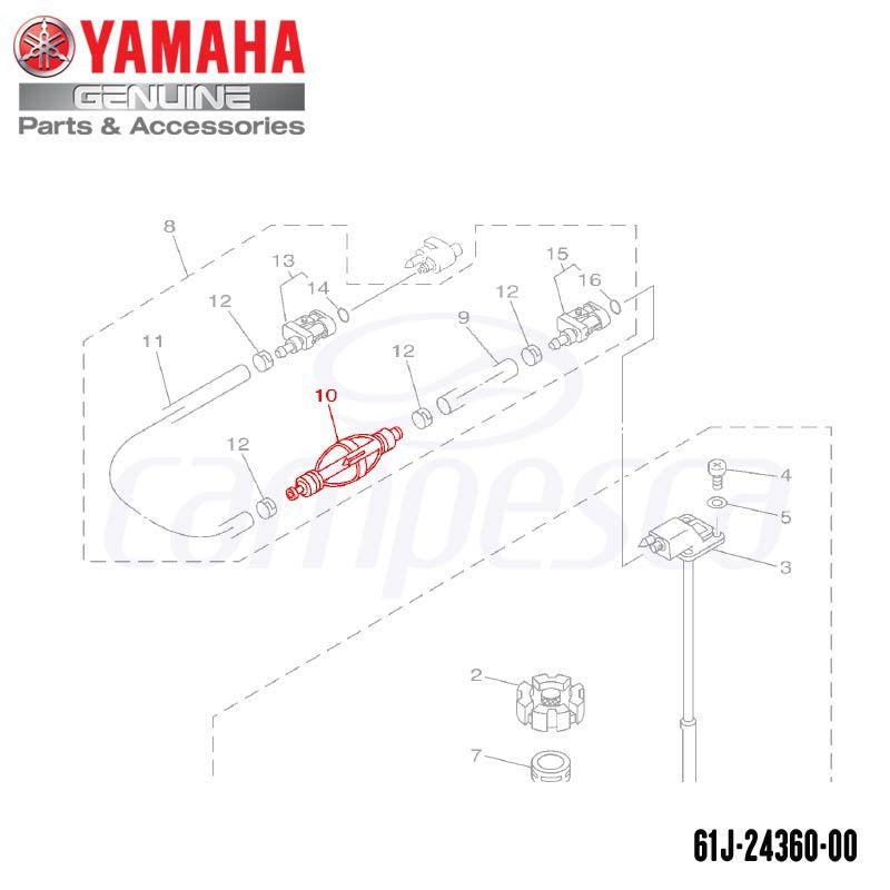 Bomba Primária (Bulbo) - Yamaha (61J-24360-00)