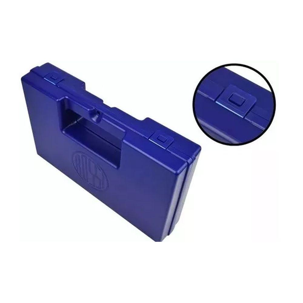 Case Rígido Maleta Azul Para Pistolas Airsoft Rossi
