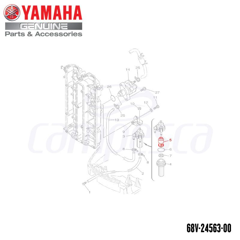 Elemento do Filtro - Yamaha (68V-24563-00-00)
