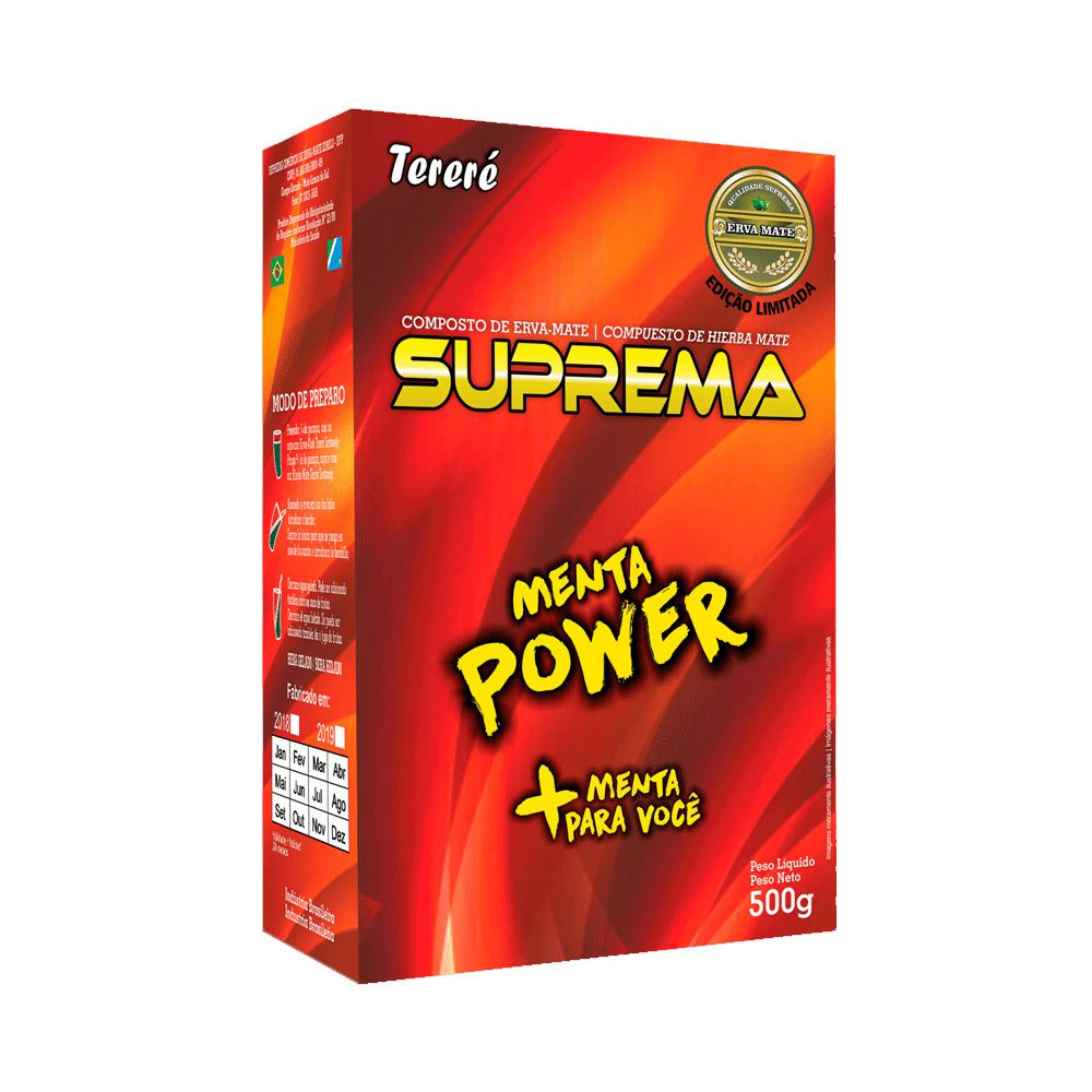 Erva Mate P/ Tereré (500g) - Menta Power - Suprema