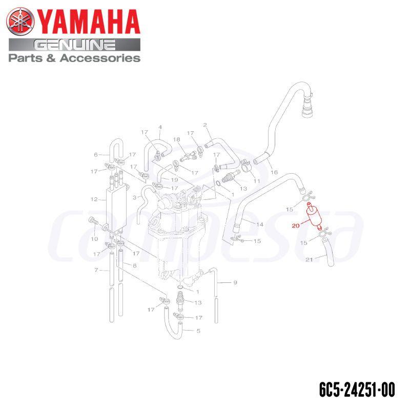 Filtro de Combustível I - Yamaha (6C5-24251-00)