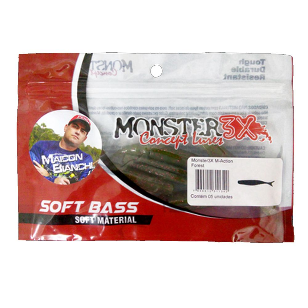 Isca Artificial Soft M-Action 9,5cm - Monster3X