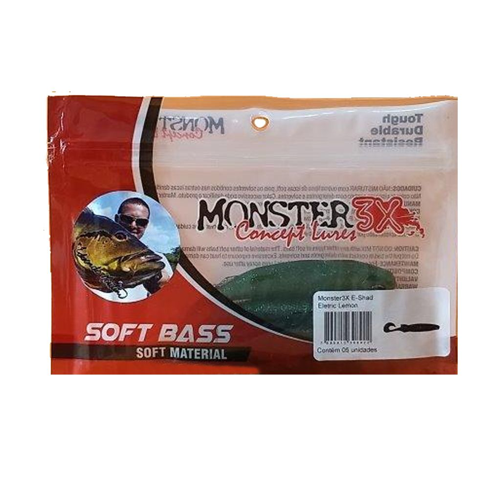 Isca Soft E-Shad Monster 3X - 12cm