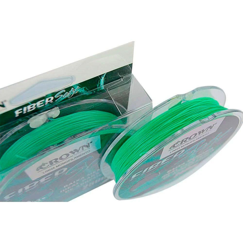 Linha Monofilamento Crown Fiber Soft Green - 250m