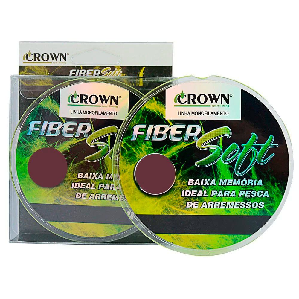Linha Monofilamento Crown Fiber Soft Yellow - 250m