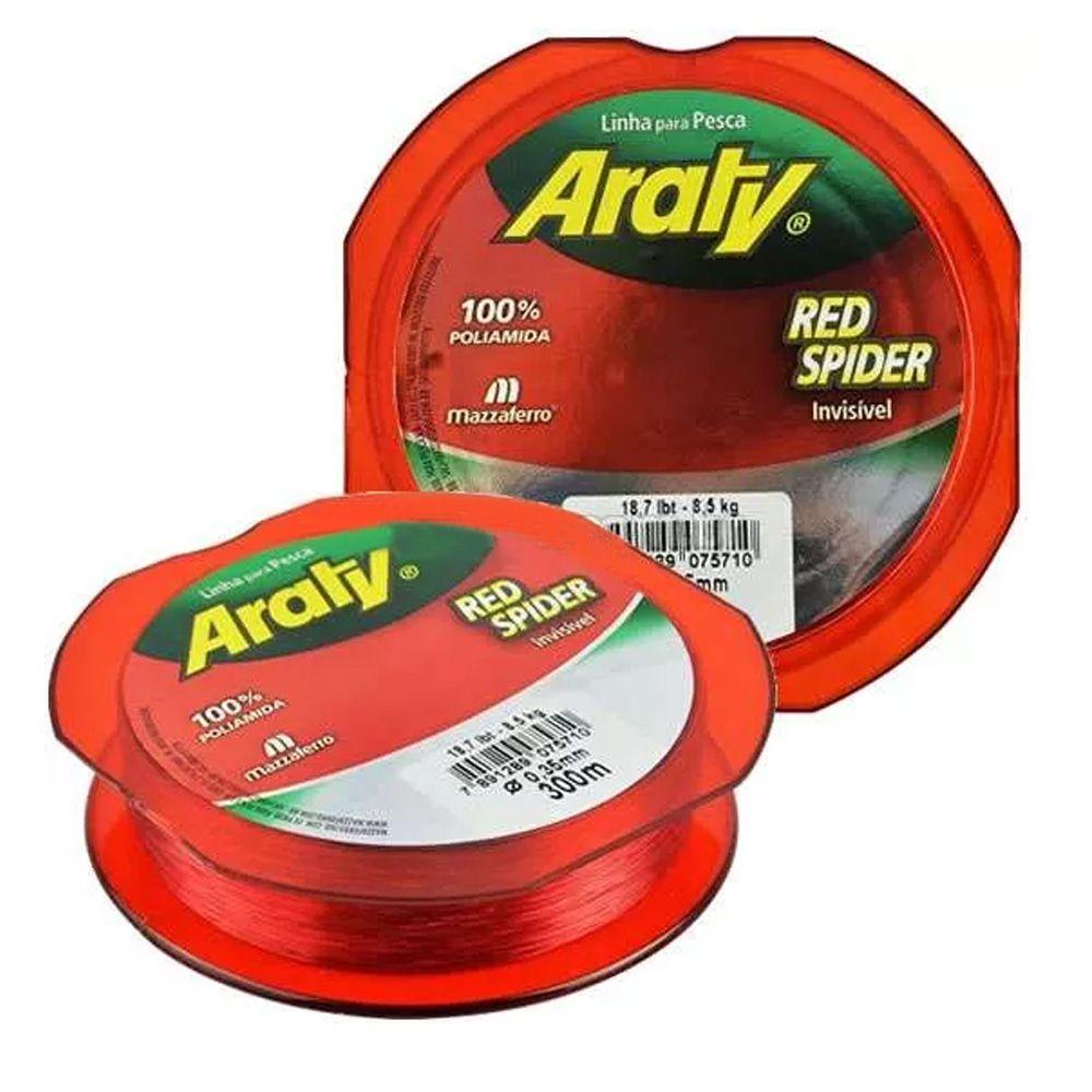 Linha Monofilmento Araty Red Spider - 300m