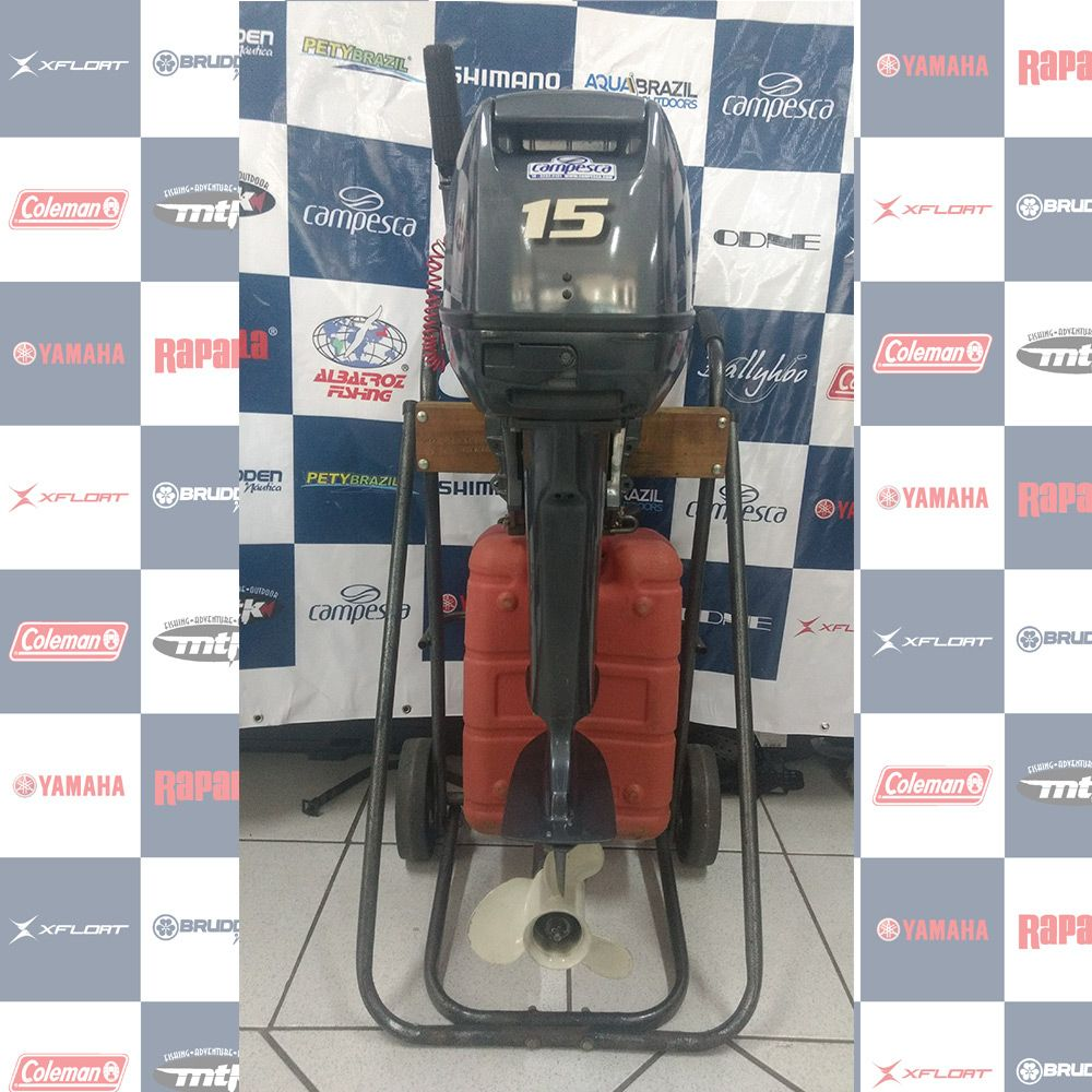 MOTOR SEMI - NOVO (usado) YAMAHA 15HP - ANO 2012 - 1073599
