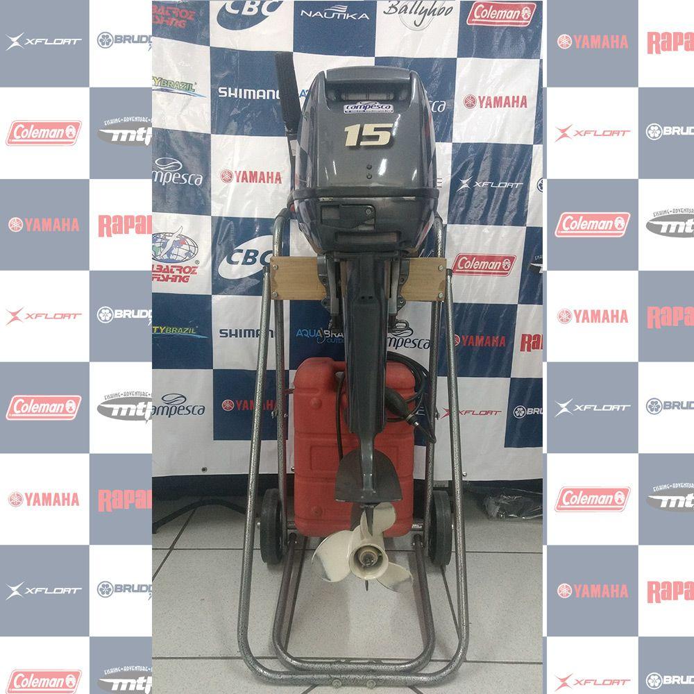 MOTOR SEMI - NOVO YAMAHA 15HP - ANO 2012 - 1079922