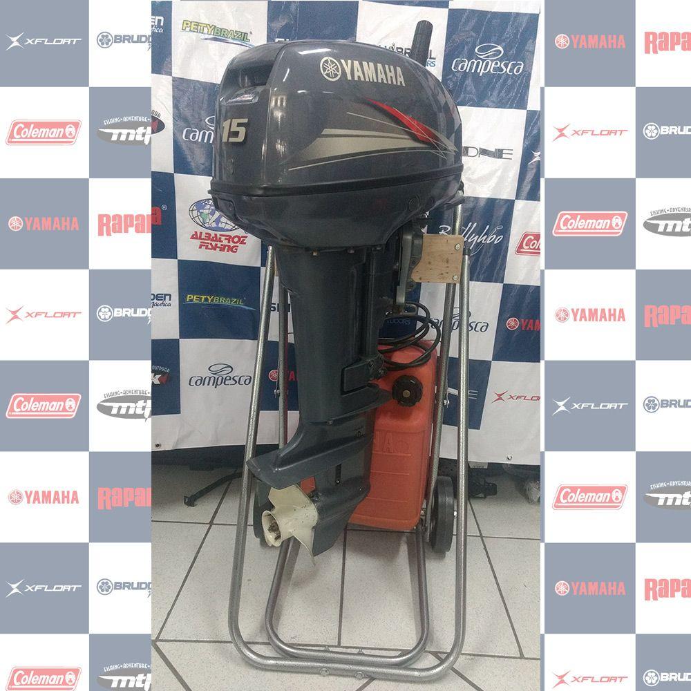MOTOR SEMI - NOVO YAMAHA 15HP - ANO 2014 - 1097568