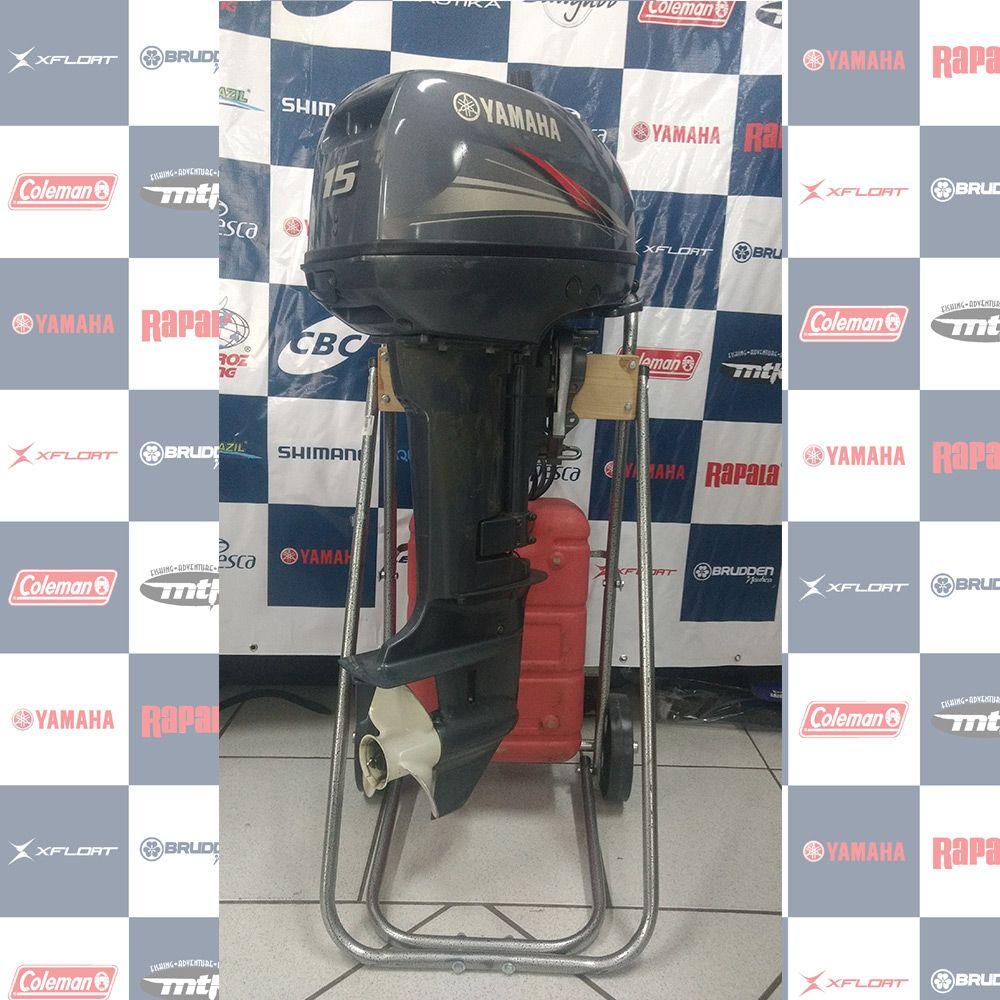 MOTOR SEMI - NOVO (usado) YAMAHA 15HP - ANO 2014 - 1099018