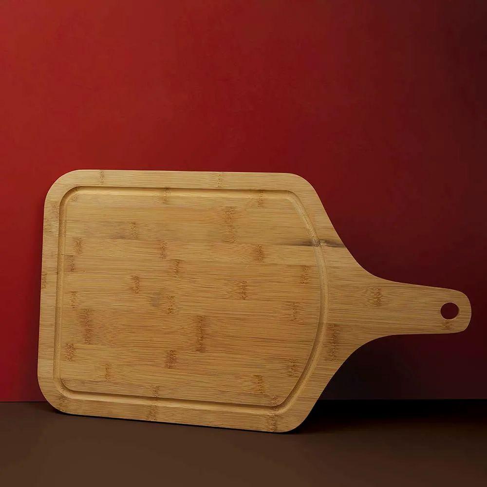 Tábua Para Corte Mor Bamboo Com Cabo - 50x30cm