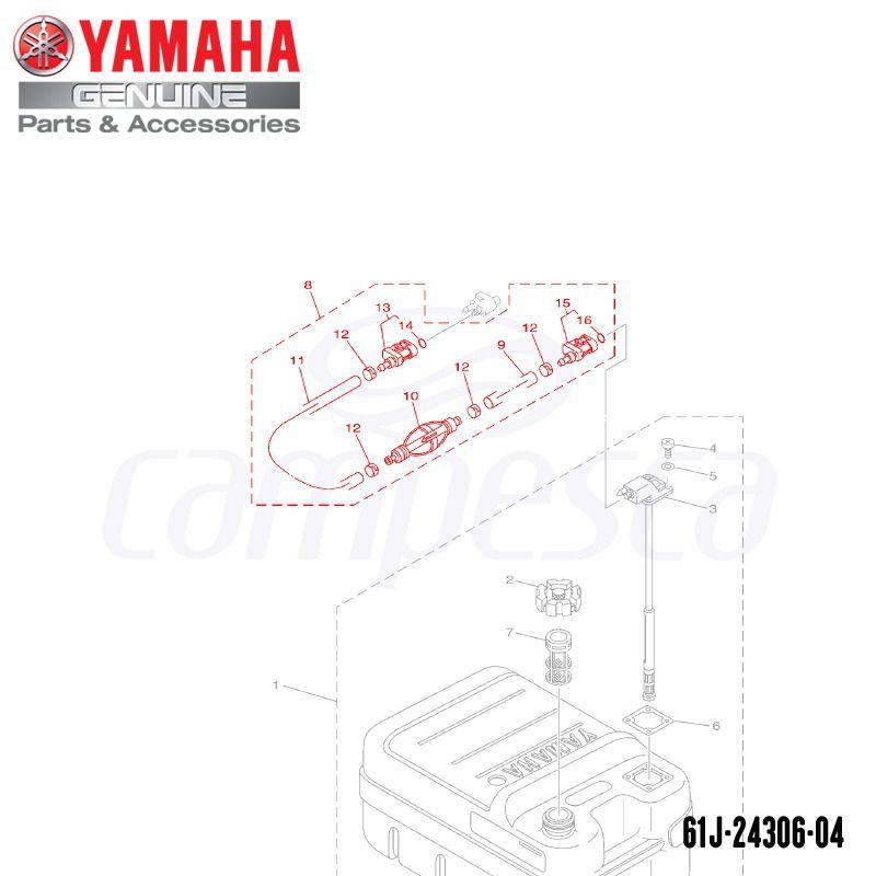 Tubo de Combustível Completo - Yamaha (61J-24306-04)