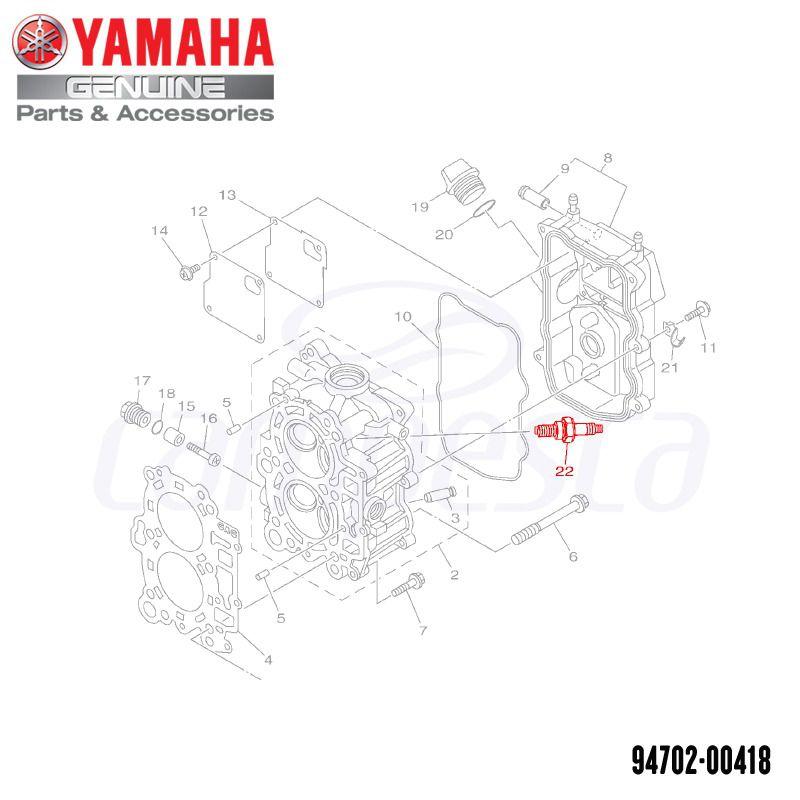 Vela de Ignição DPR6EB-9 NGK - Yamaha (94702-00418-00)