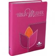 A BÍBLIA DA MULHER - COURO SINTÉTICO ROSA: ALMEIDA REVISTA E CORRIGIDA (ARC)