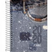 Agenda Tilibra Espiral 2 Dias Por Página Jeans 2020