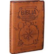 Biblia das Descobertas Para Adolescentes - Couro Marrom - Sb