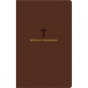 BÍBLIA SAGRADA ACF: CAPA COURO SOFT MARROM