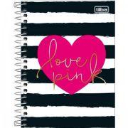 Caderneta Tilibra Capa Dura 1/8 Love Pink - 80 Folhas - Capas Sortidas