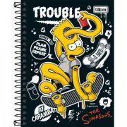 Caderneta Tilibra Espiral Capa Dura Simpsons 80 Folhas - Capas Sortidas