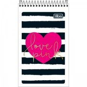 Caderneta Tilibra Espiral Capa Flexível Love Pink - 60 Folhas