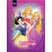 Caderno Brochura Capa Dura Pequeno Princesas Top - 96 Folhas