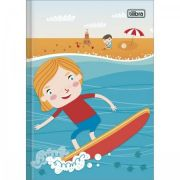 Caderno Brochura Capa Dura Pequeno Sapeca Masculino - 48 Folhas