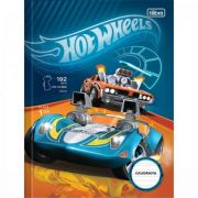 Caderno Brochura Capa Dura Caligrafia Hot Wheels 40fls