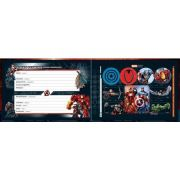 Caderno Brochura Capa Dura Desenho Avengers Assemble - 40 Folhas - Capas Sortidas