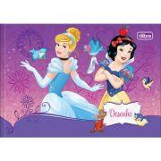Caderno Brochura Capa Dura Desenho Princesas - 40 Folhas