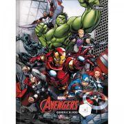 Caderno Brochura Quadriculado Avengers Assemble - 40 Folhas - Capas Sortidas
