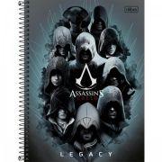 Caderno Capa Dura 10 Matérias Assassins Creed - 200 Folhas
