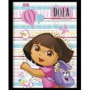 Caderno Capa Dura Pequeno Brochura Costurado Dora 96 Fls