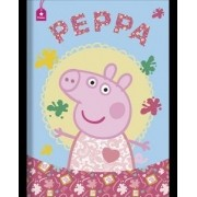 Caderno Capa Dura Brochura Pequeno Costurado Peppa Pig 48 Fls