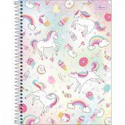 Caderno Capa Dura Universitário Blink Unicónios 10 Matérias - 160 Folhas