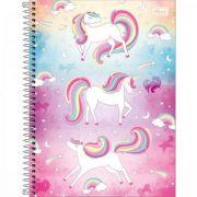 Caderno Capa Dura Universitário Blink Unicónios 10 Matérias - 160 Folhas - Capas Sortidas