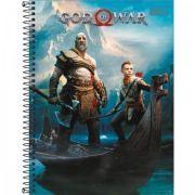 Caderno Capa Dura Universitário God Of War 1 Matéria 96 Fls